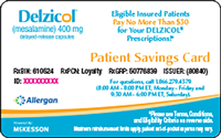 Patient Savings Card Example